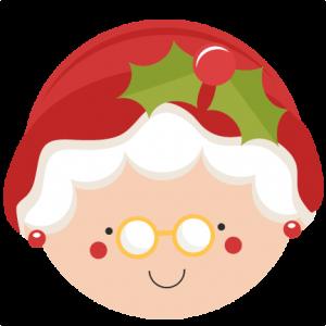 Christmas Mrs Claus Svg Scrapbook Cut File Cute Clipart
