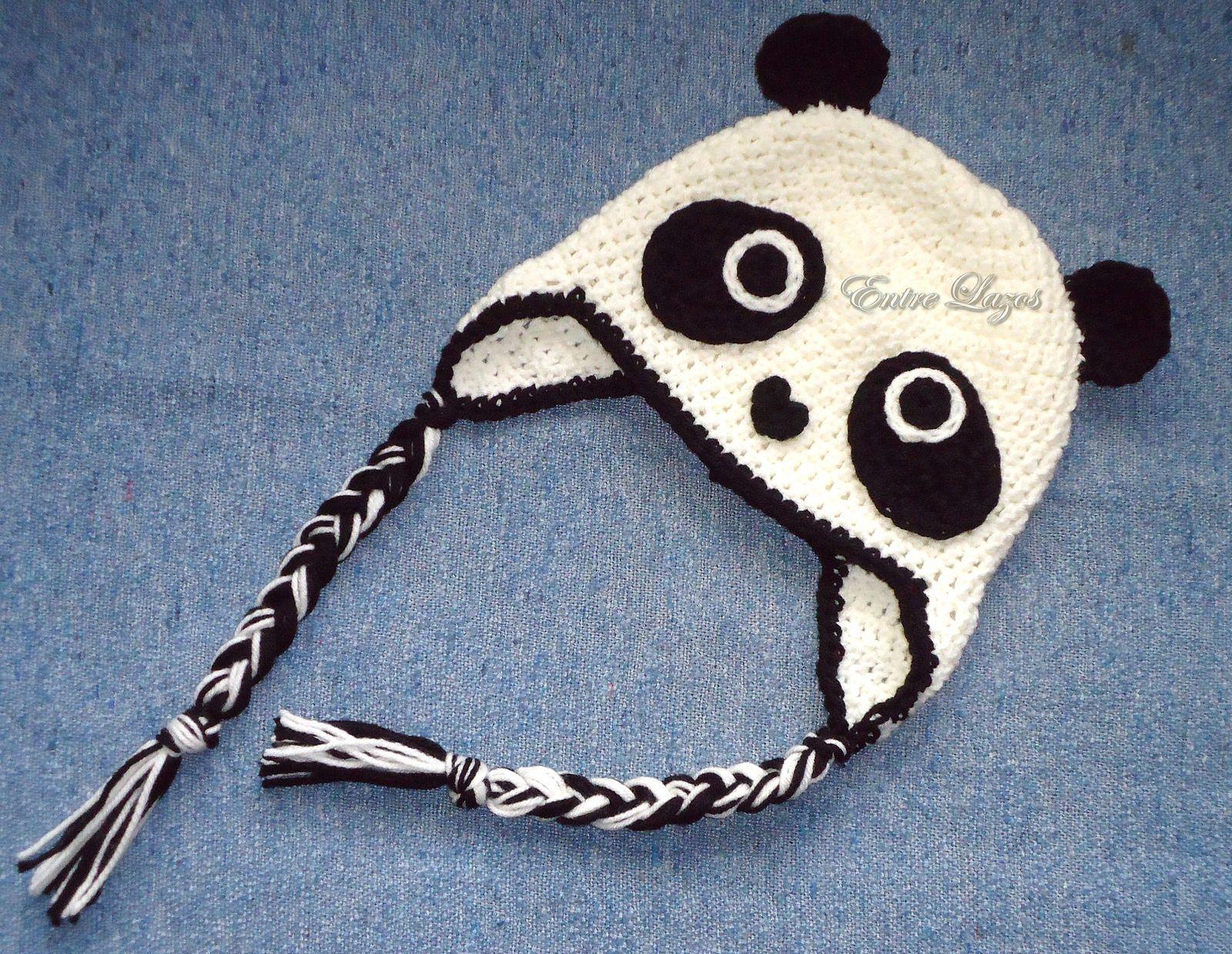 Gorro Panda (crochet hat)