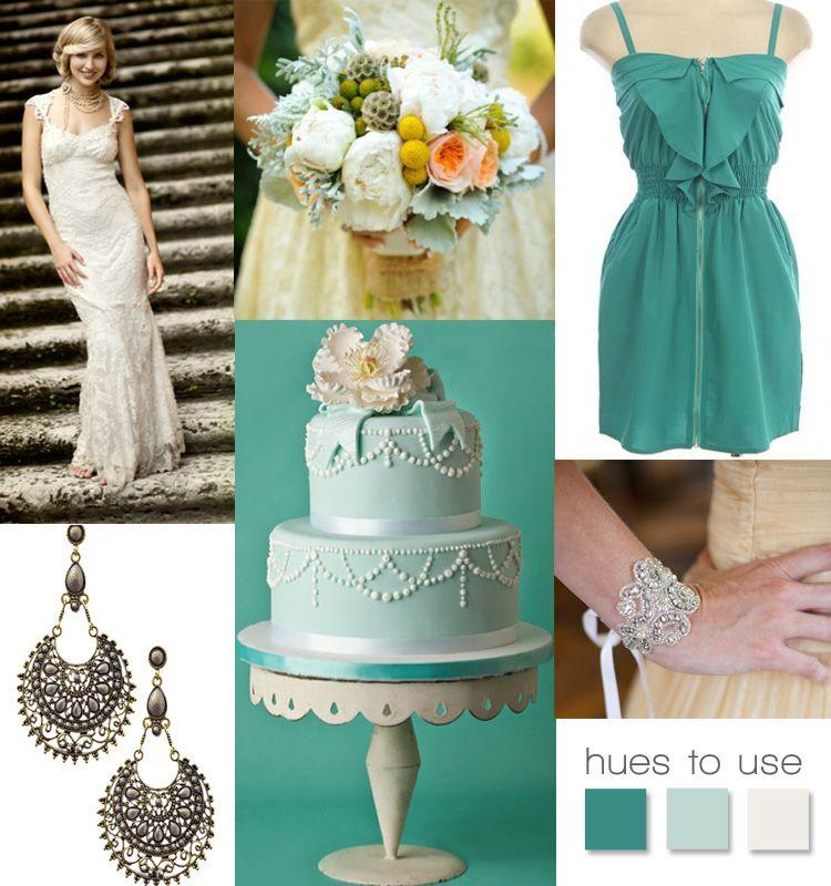 Seafoam Green Wedding Ideas: Seafoam Green Inspiration Board