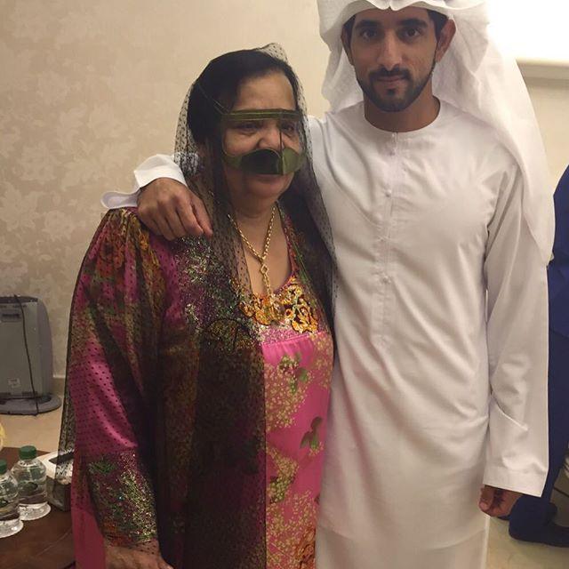 Mama Nora y Hamdan bin Mohammed bin Rashid Al Maktoum