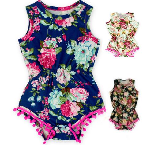 Infant + Toddler Floral Romper