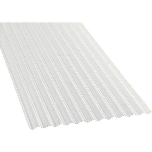 Plaque Polycarbonate Petites Ondes Clair 3 X 1 12m Toiture Polycarbonate Toiture Polycarbonate