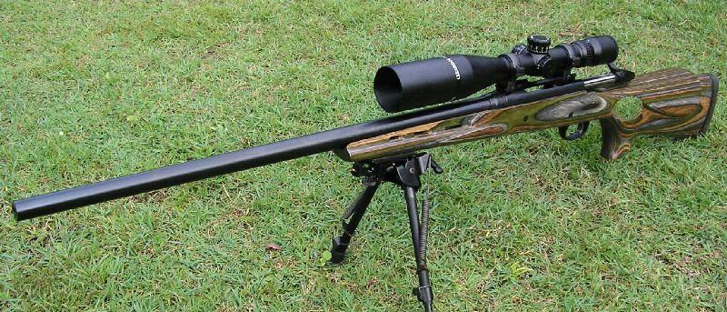 Marlin X7VH mounted on a Boyd's Thumbhole Varmint stock