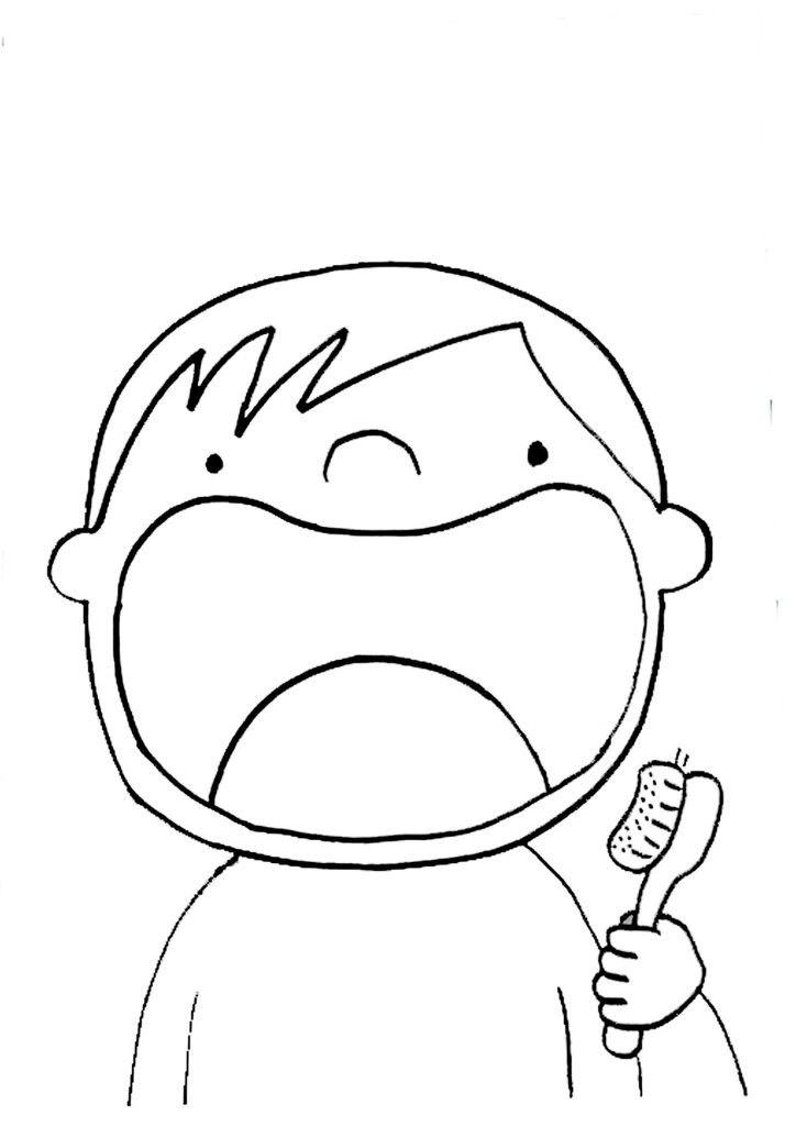 Diş Fırçalama Erkek çocuk Boyama Boyama Teeth Teaching Kids Ve