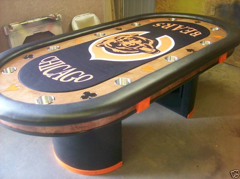 Chicago Bears logo NFL football custom felt | Sports Themed Poker ...