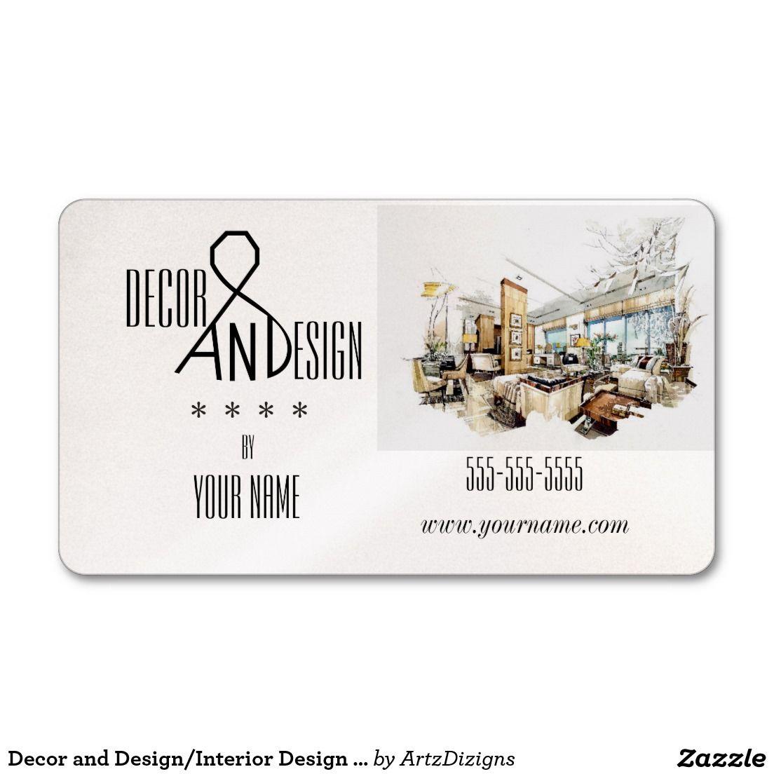 Decor and Design/Interior Design - Business Cards