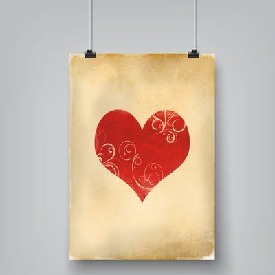 East Urban Home Playing Card Hearts by Indigo Sage Graphic Art on Paper