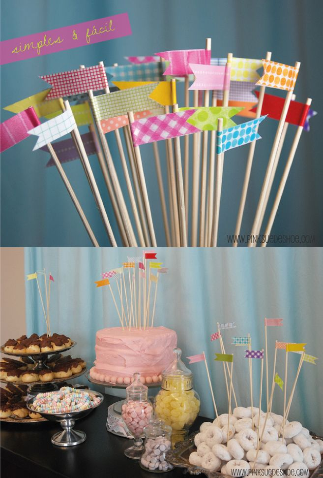 Banner toothpicks for larger apps faschingsparty ideen - Ideen jahrestag ...