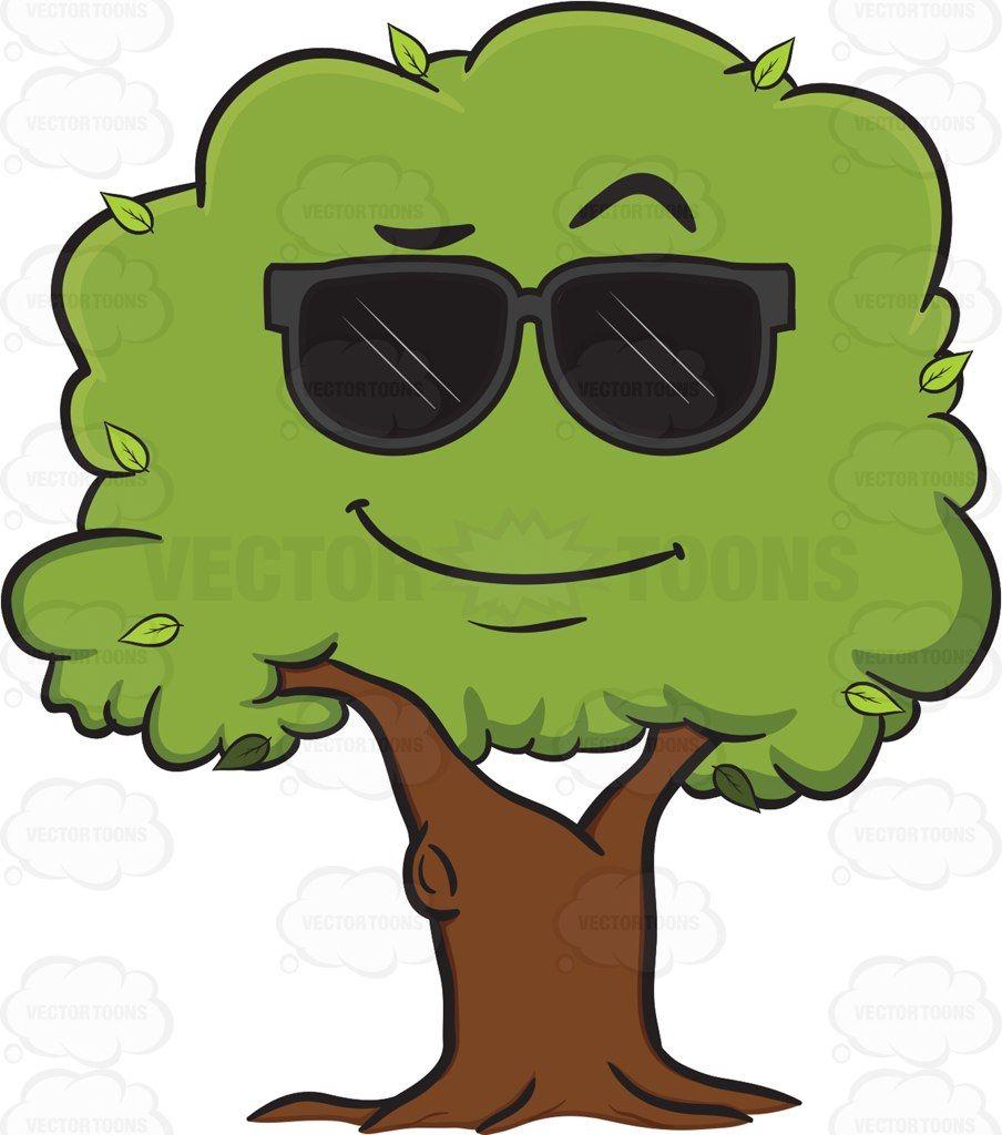 Cool Looking Healthy Leafy Tree Emoji Tree Emoji Vector Flowers Tree Painting Easy