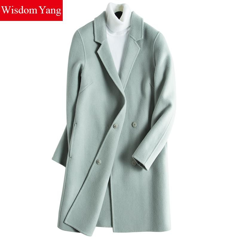 5a6848e3d55a Cheap elegant trench, Buy Quality wool coat green directly from China coats  green Suppliers: Wisdom Yang Women's Sheep Wool Coats Green Yellow Double  ...