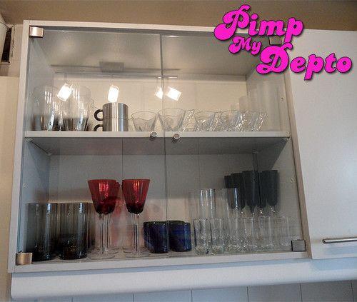 Mueble de cocina con puerta de vidrio google search glass desing pinterest vidrio - Muebles de vidrio ...