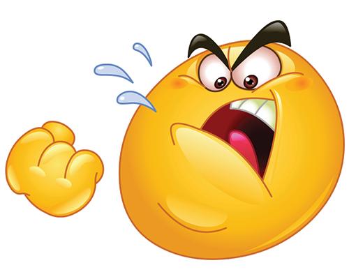 Angry emoticon facebook