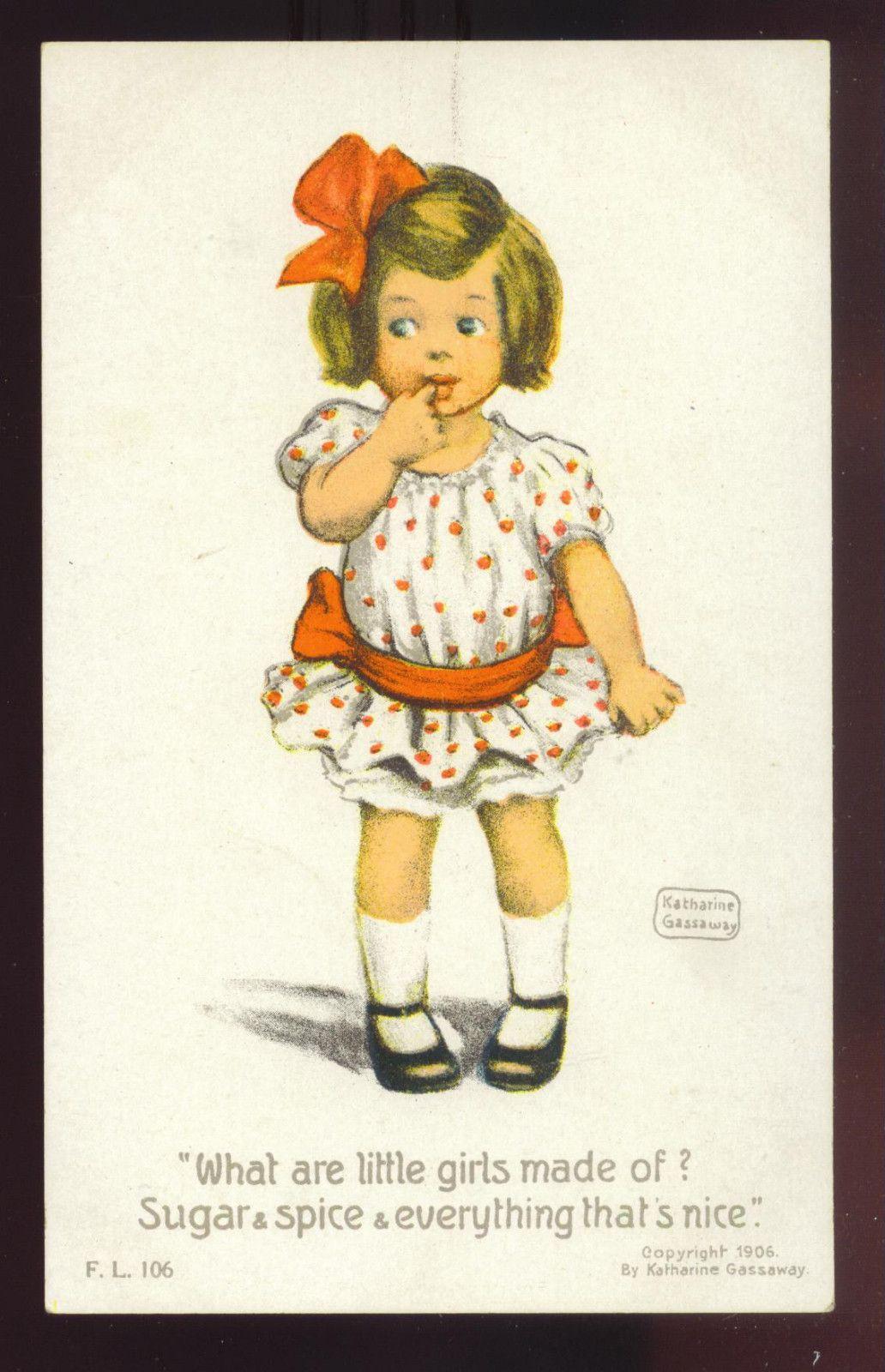 K. GASSAWAY DESIGN ~ LITTLE GIRL SUCKING FINGER, PUB BY ROTOGRAPH ...