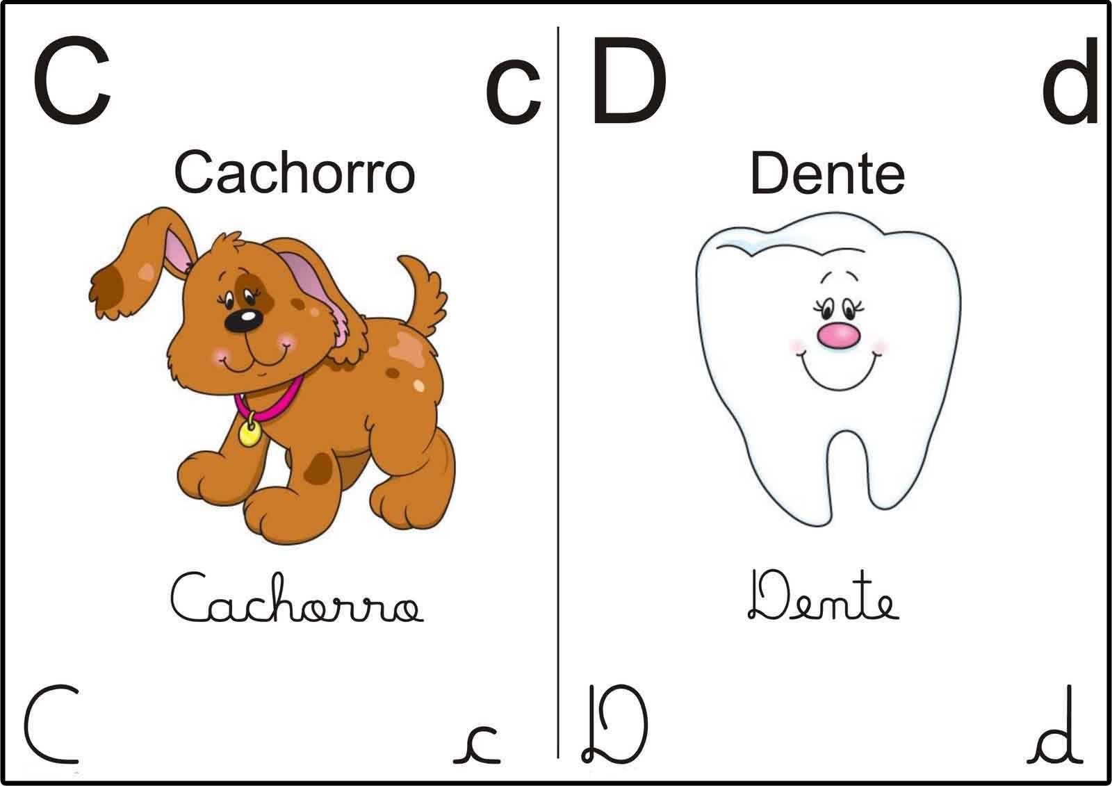 Alfabeto Ilustrado Corar Sala De Aula 2 Tipos De Letras