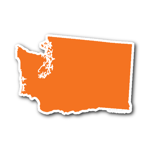 Washington State Shape Sticker Outline Orange State Shapes Washington State Washington