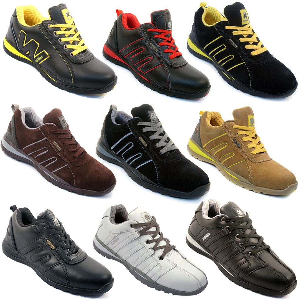 mens safety trainers shoes boots work steel toe cap hiker