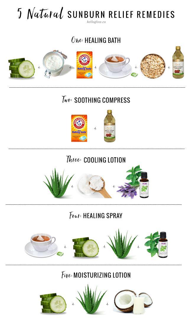 5 Natural Sunburn Relief Remedies Helloglow Co Natural Sunburn Relief Natural Remedies For Sunburn Sunburn Relief Remedies