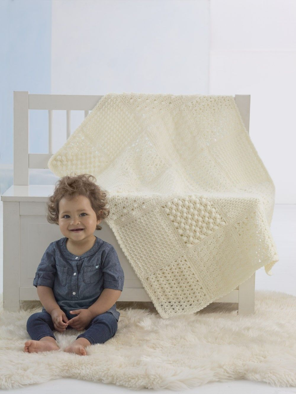 Heirloom Sampler Baby Afghan (Crochet) | Things to do | Pinterest