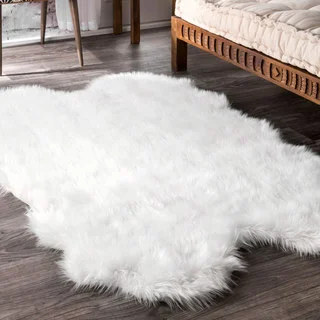 Nuloom Faux Flokati Sheepskin Soft And Plush Shag Area Rug Area Rugs For Sale White Shag Rug White Shag Area Rug