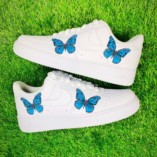 Blue Butterfly Air Force 1 THE CUSTOM MOVEMENT in 2020