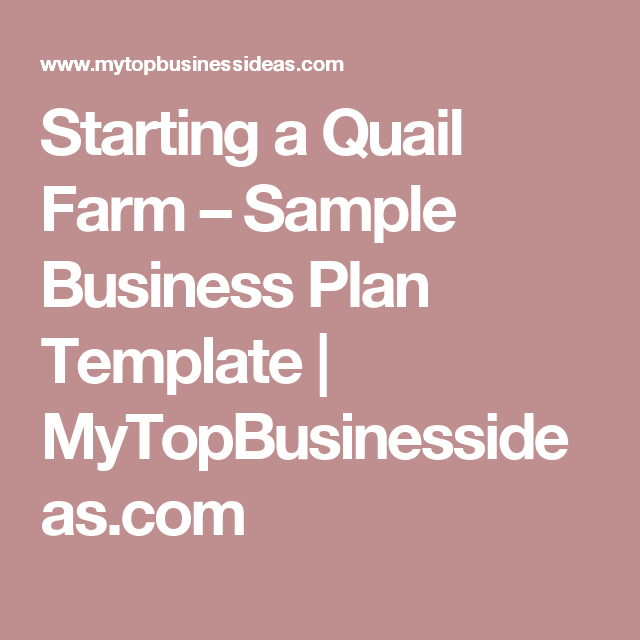 Starting a quail farm sample business plan template do you want to start your own magazine company online do you need a sample magazine publishing business plan template wajeb Image collections