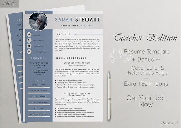 Profesional Resume Templates By Creativelab On Creativemarket