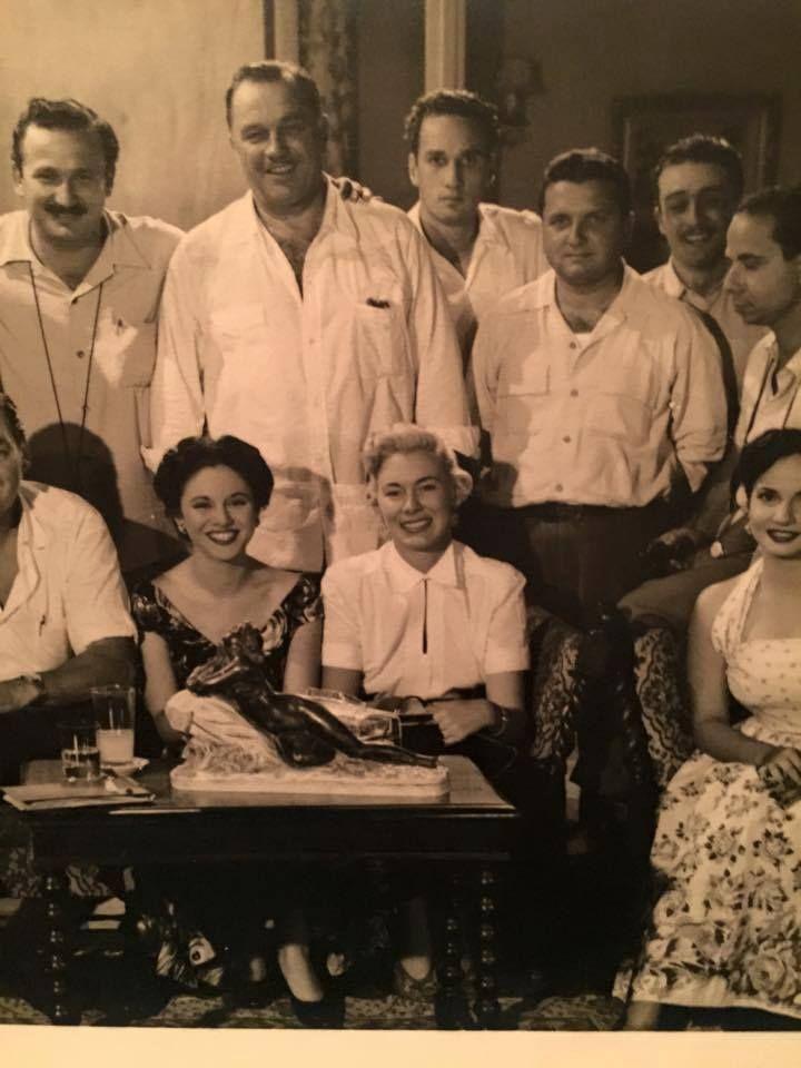 كواليس موعد مع الحياة فى الصورة شادية والمخرج عز الدين ذوالفقار Egyptian Movies Egyptian Actress Old Egypt