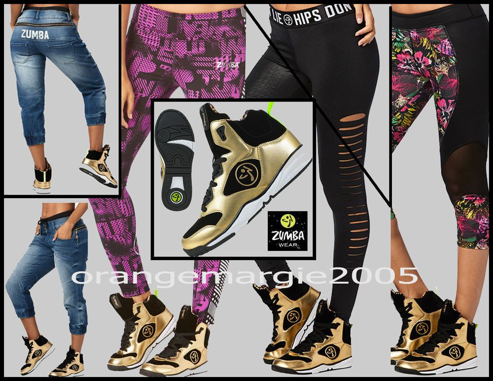 Zumba Revolution Crop Leggings Capri Gold Foil Army Green RARE EliteZW S,M,L,XL