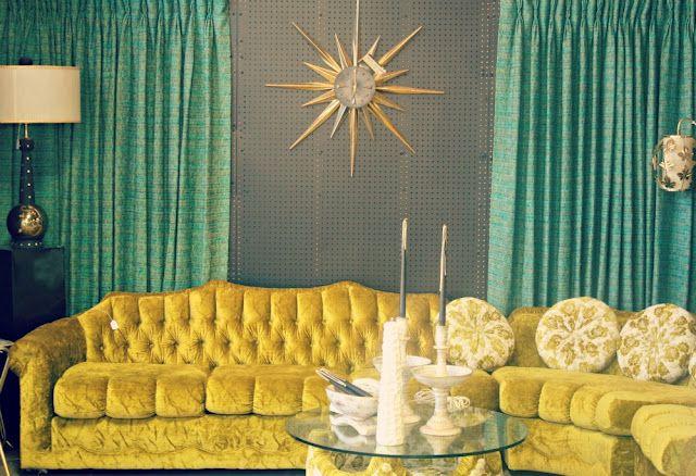 Oh My Aqua Gold Retro Room Yellow Living Room Mid Century Decor