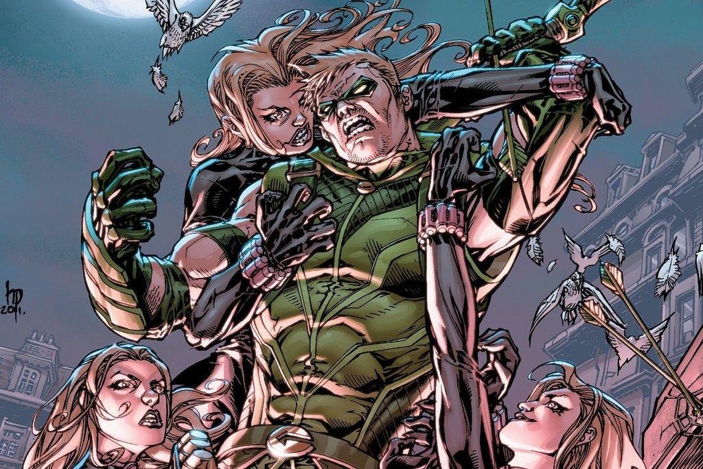 Green Arrow Fight Marvel Comics Wallpaper