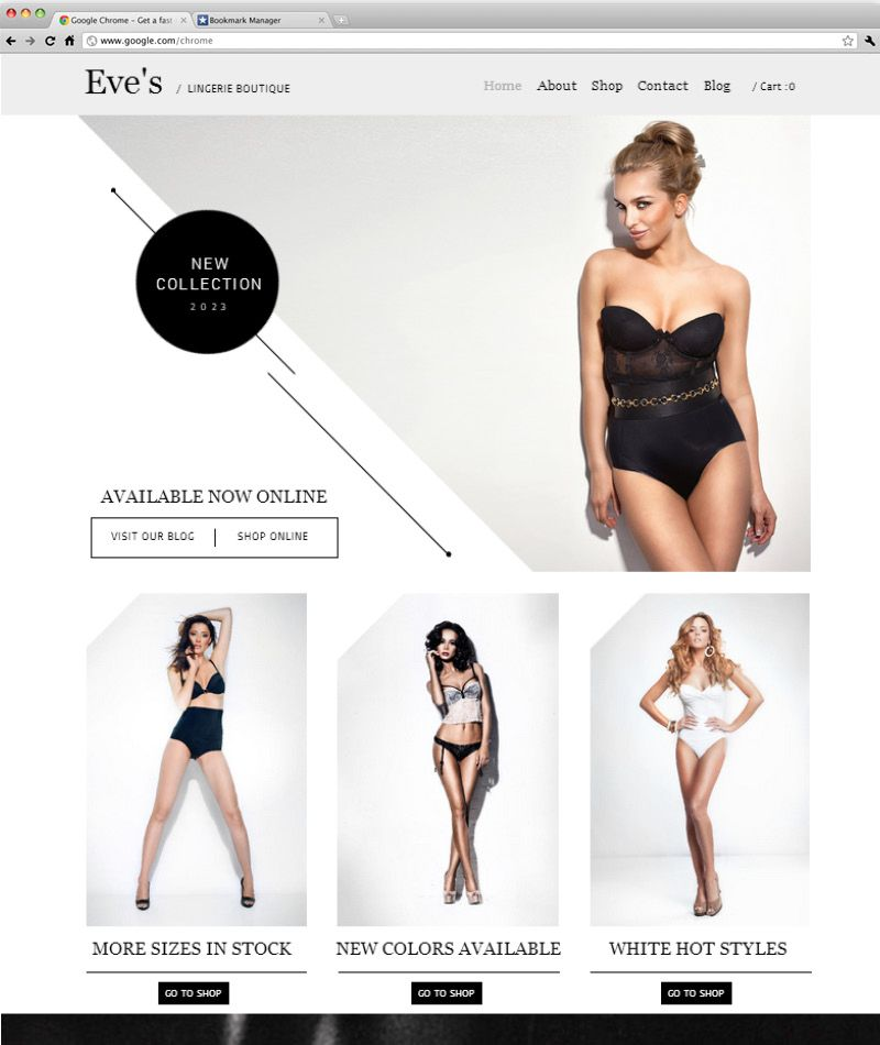 6a4be5b29 Lingerie Store Template