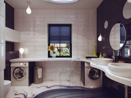 Web Photo Gallery bined bathroom laundry design