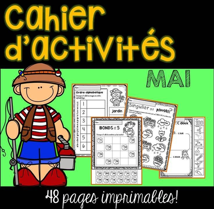 FRENCH May Worksheets/ Cahier d'activités de mai Cahier
