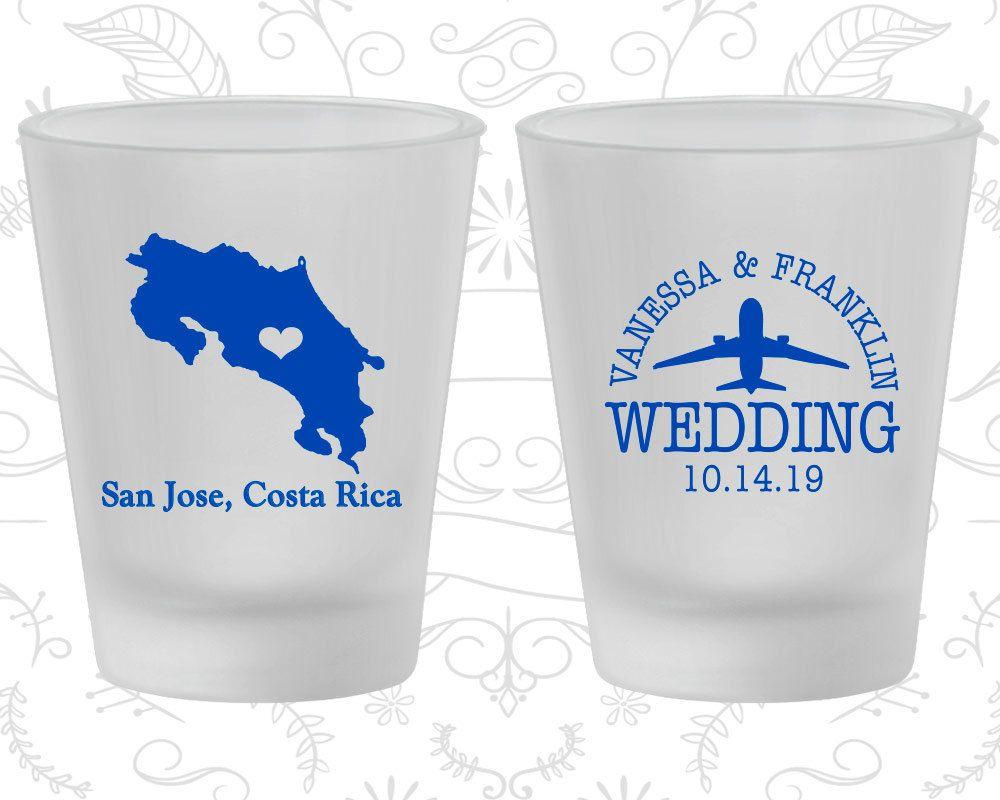 Costa Rica Wedding, Wedding Favor Frosted Shot Glass, Destination ...