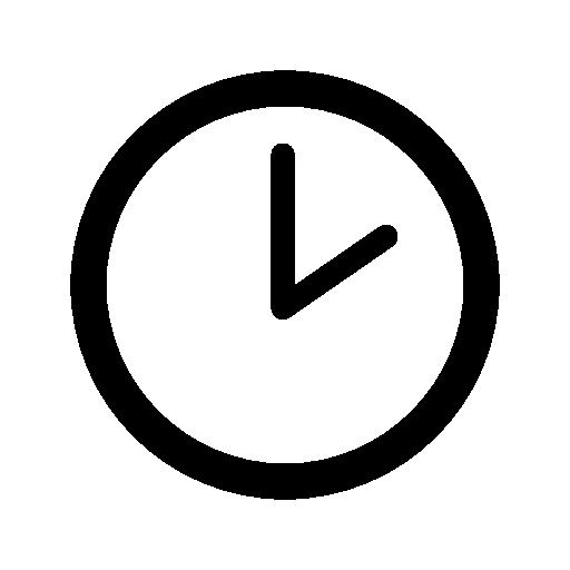 Clock Of Circular Shape At Two O Clock Free Vector Icons Designed By Freepik Calendar Icon Icon Vector Icon Design
