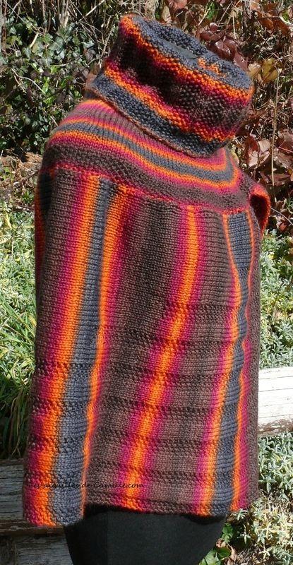 Free Knitting Pattern Asymmetrical Collar Cape By Tricote Pastout