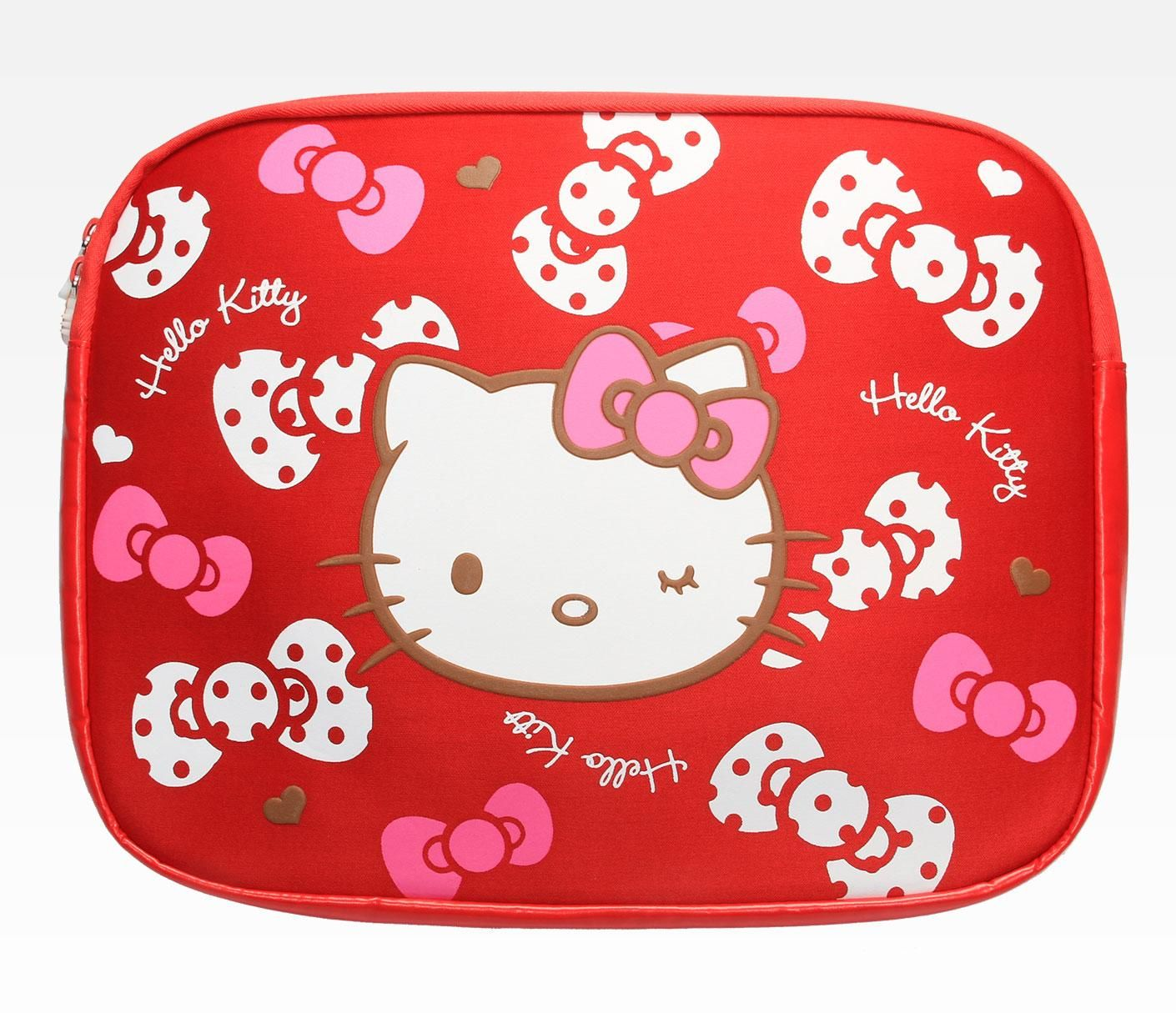 Hello Kitty 13 Laptop Sleeve Polka Dot Ribbon