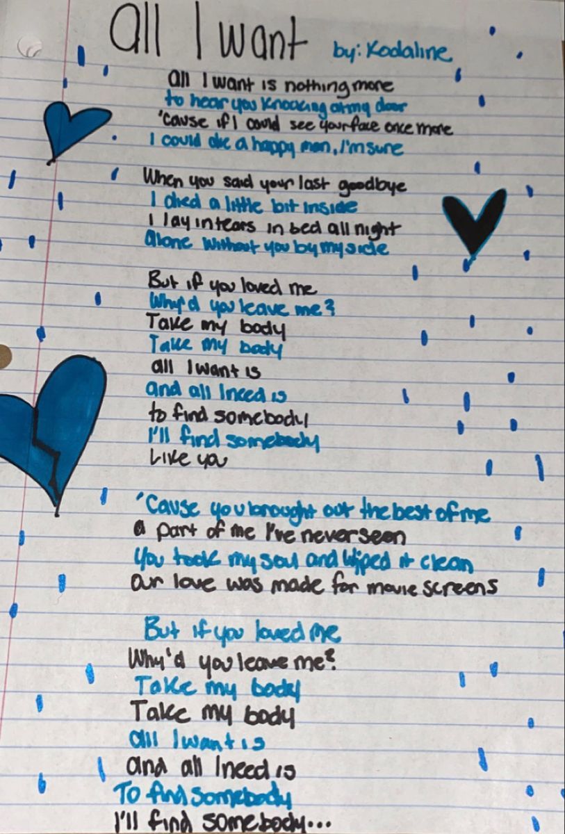Kodaline All I Want Kodaline Lyrics Lyrics To Live By Pretty Words