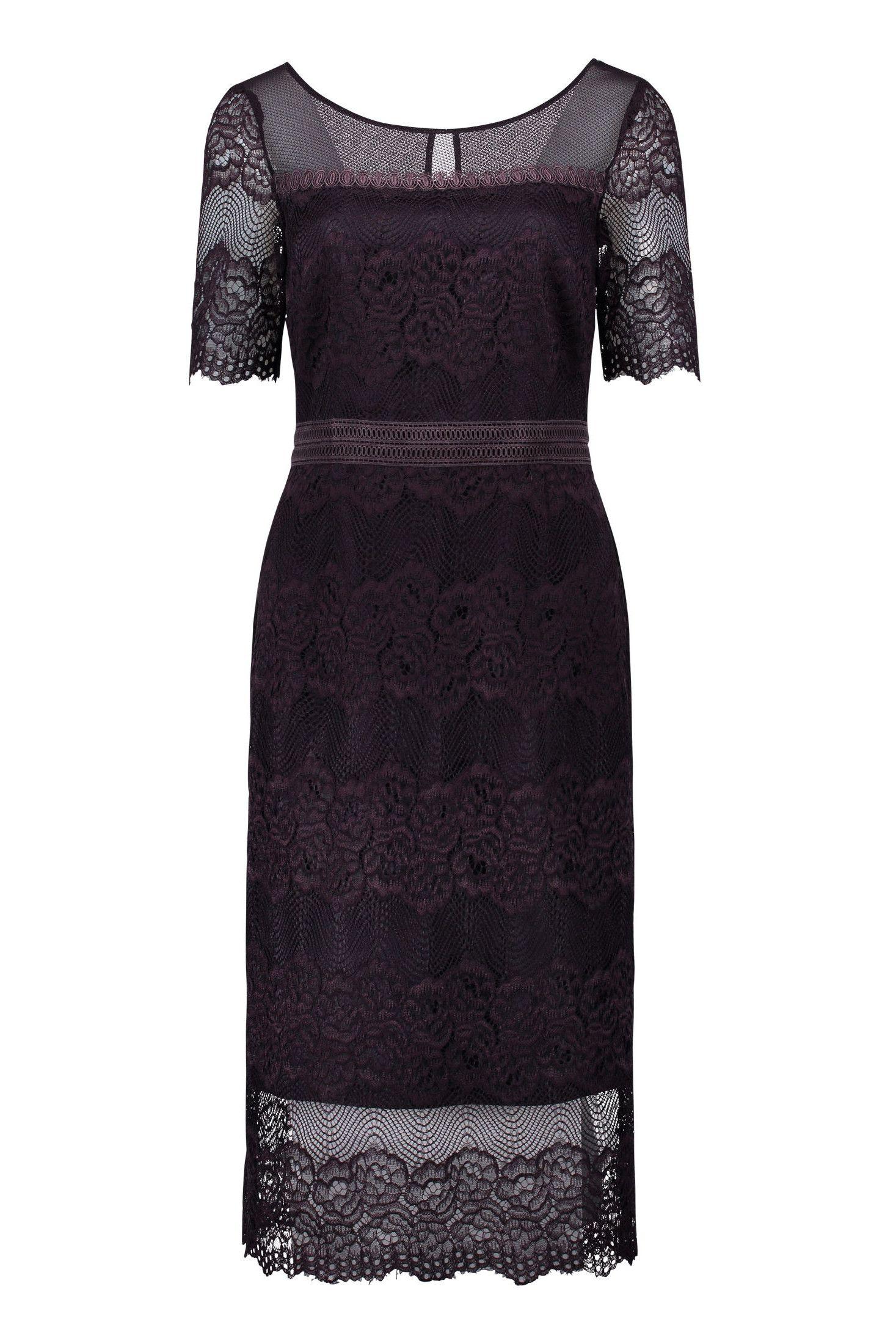 6f11e5e76372e4 Kleid mit Ärmel Häkelspitze Lila Vera Mont