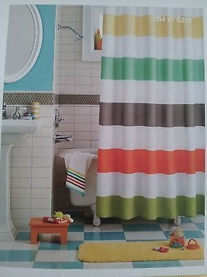 Warm Rugby Stripes Shower Curtain (Warm) Circo Http://smile.amazon
