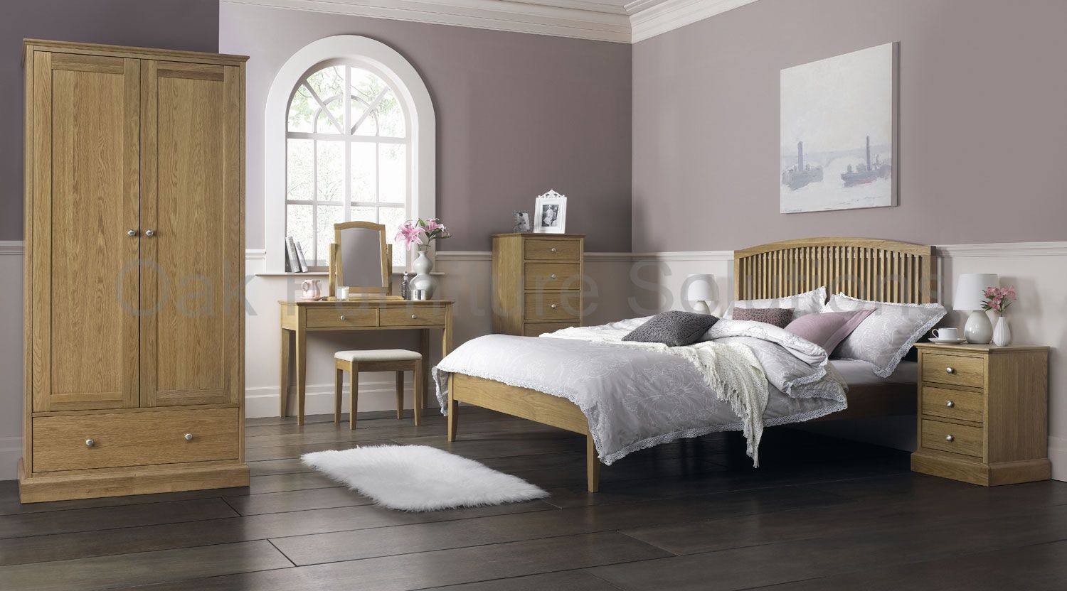 oak furniture light oak bedroom set | Oak bedroom furniture