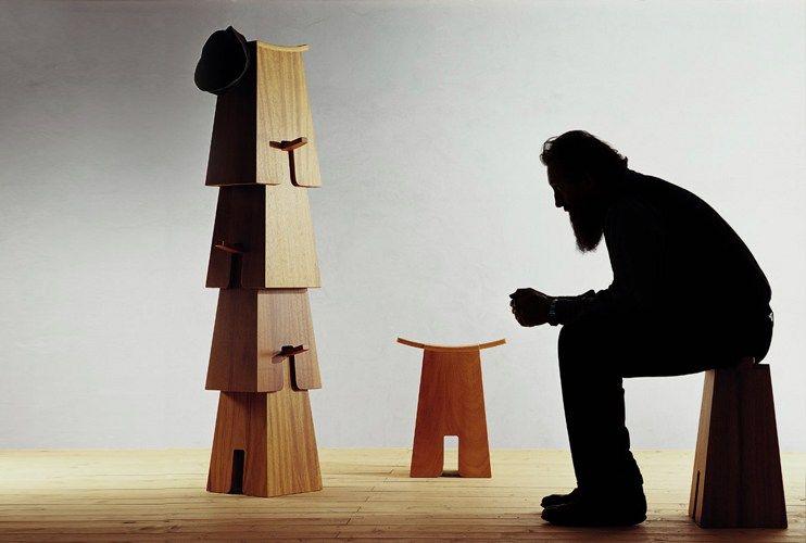 Expo Milan Les Stands : Sgabello impilabile in legno bisonte by produzione privata