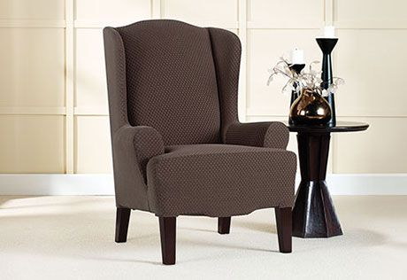 sure fit slipcovers stretch brixton wing chair slipcovers wing chairs