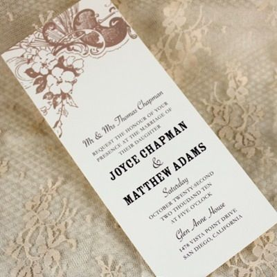 Reception Menu Template  Vintage Carnival Design  Vintage
