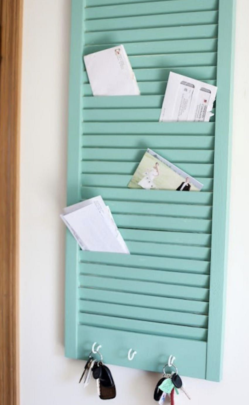 Hallway key storage  Old Shutters Are Repurposed Into Beautiful Planter Boxes  Old