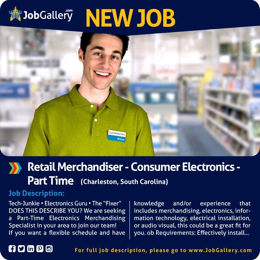 Seeking A PartTime Electronics Merchandising Specialist