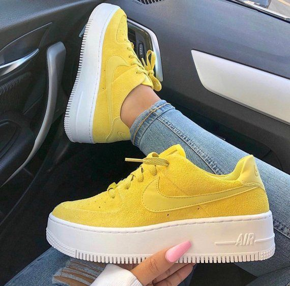 nike air force 1 sage low donna gialle