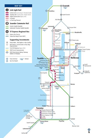 Image result for seattle transit map Seattle Bound Pinterest