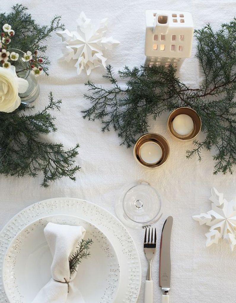 decoration de table hiver faites confiance au blanc