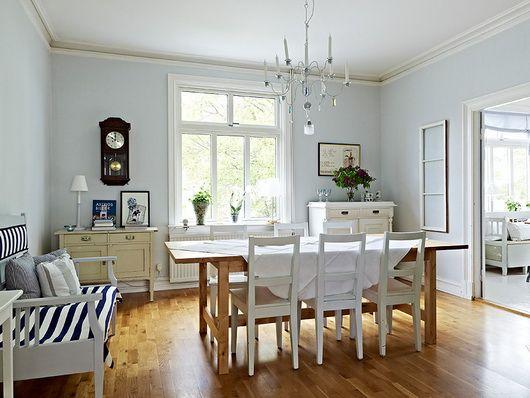 Risultati immagini per pareti azzurro polvere accessori - Colori per salone casa ...